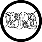 Standardstahlgobo Rosco Barbed Wire 2 78031