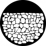 Standardstahlgobo GAM Design Stone Wall 246