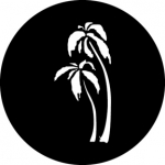 Standardstahlgobo GAM Design Palm Trees 297