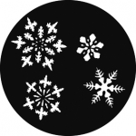 Standardstahlgobo GAM Design Small Snowflakes 310