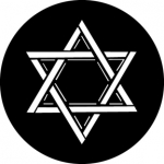 Standardstahlgobo GAM Design Star of David 323