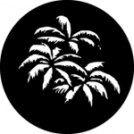 Standardstahlgobo GAM Design Palm Leaves 362