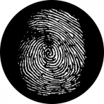 Standardstahlgobo Rosco Fingerprint 76614